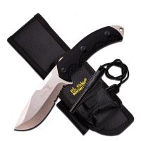 "Elk Ridge Fixed Blade Knife 4.25"" Blade-Black Handle"