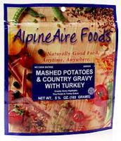 Alpine Aire Mashed Potatoes and Country Gravy with Turkey