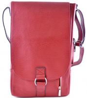 Primeware Vino2 Red Faux Leather Messenger Bag Style Two Bottle Wine Tote