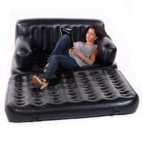 Smart Air Beds 5 x 1 EZ Full Size Inflatable Sofa Bed, Black - Bed, Sofa, Booster Bed, Recliner, Lounger (BD-0011FS)