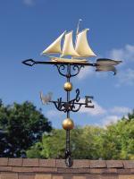 """46"""" Yacht Weathervane - Gold-Bronze"""
