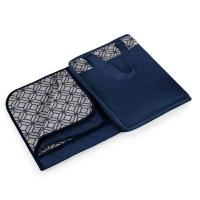 Picnic Time Vista Outdoor Blanket XL - Mignight Blue With Morrocan Print