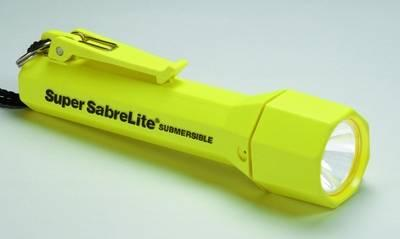 Pelican Products Inc - Super Sabrelite Laser Spot Xenon Submersible Yellow Body Pro Flashlight