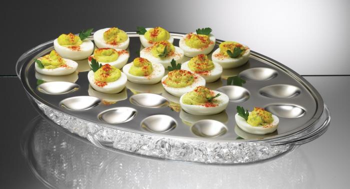 Prodyne IC24 Iced Egg Trays - Holds 24 Deviled Egg Halves