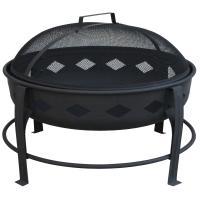 Landmann Bromley Fire Pit, Diamond Pattern, Black