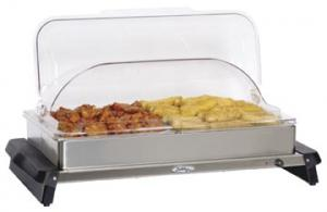BroilKing Professional Double Buffet Server with Stainless Base and Rolltop Lid