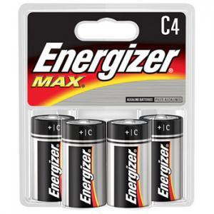 Energizer C Alkaline Batteries, 4 Pack