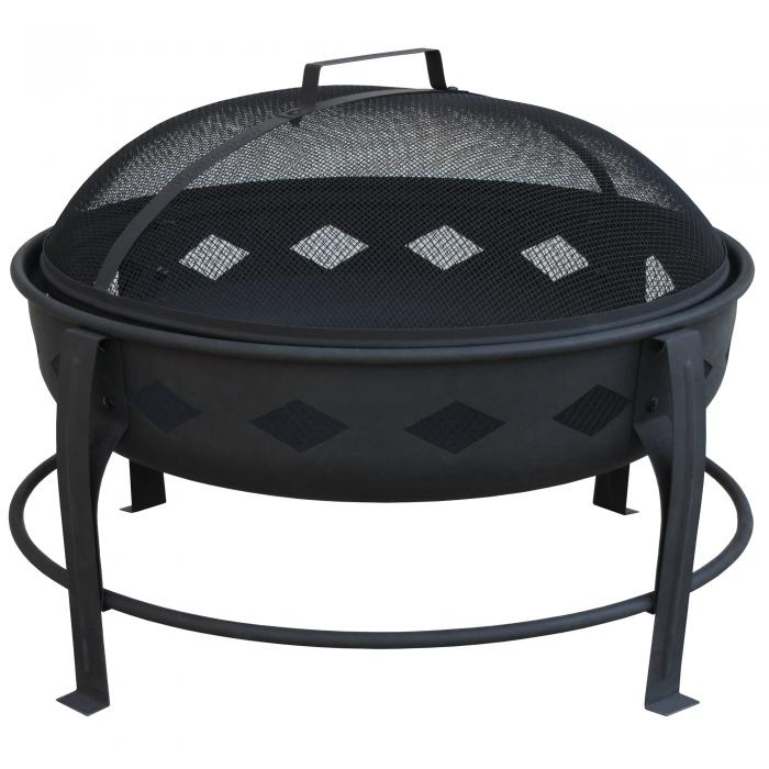 Landmann Bromley Fire Pit, Diamond Pattern, Black