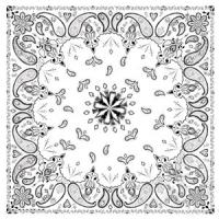 Bandannas Bandanna, 100% Cotton, White Paisley, Premium, 22 x 22 in.