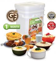 Relief Foods 1-Month Gluten Friendly Emergency Food Supply - 150 Serving, Entrée & Breakfast Bucket