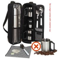 Picnic at Ascot - Deluxe Vienna Travel Coffee Tote for 2 - Black
