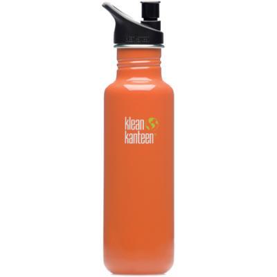 Klean Kanteen 27 Oz Classic Sports Bottle with Sport Cap, Orange