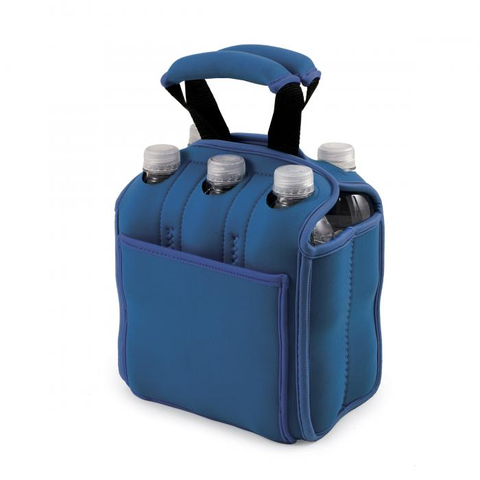 Picnic Time Insulated Six Pack Bottle/Can Holder, Royal Blue