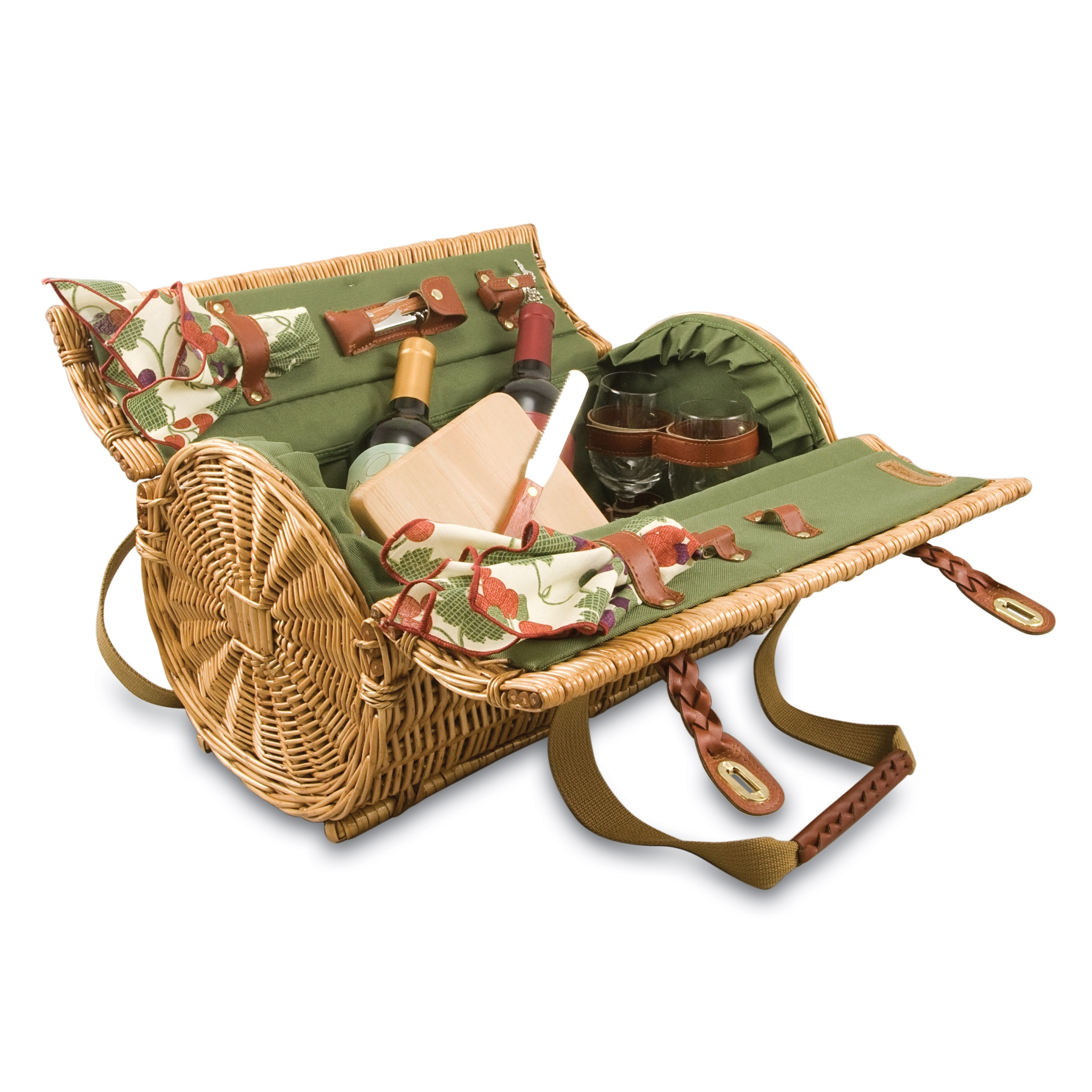 Wicker basket backpack : Picnic time verona willow wicker shoulder bag