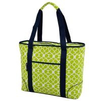 Picnic at Ascot  Extra Large Insulated Cooler Bag - 30 Can Tote - Trellis Green
