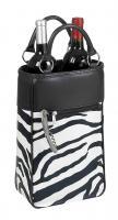 Primeware Harmony Insulated Two Bottle Wine Tote -  Zebra Safari