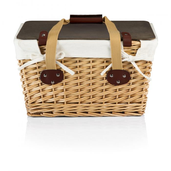 Picnic Time Canasta Flat Lidded Empty Picnic Basket