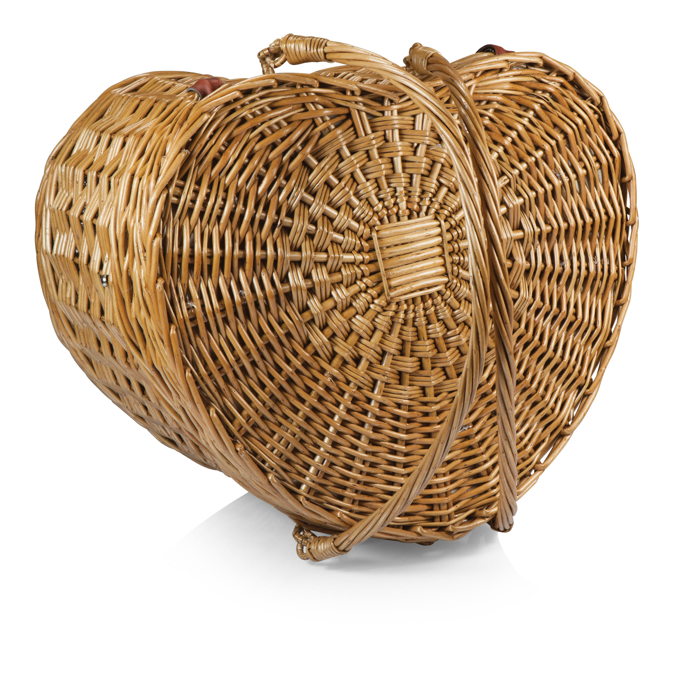 Picnic Time Woven Heart Picnic Basket For