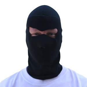 Cold Weather Headwear Coolmax Balaclava Extreme, Full Mask, Solid Black