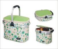 Picnic & Beyond Green Empty Aluminum Framed Picnic Cooler Basket