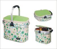 Picnic & Beyond Green Empty Aluminum Framed Picnic Cooler Basket