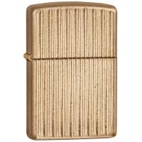 Zippo Armor Engine Turn 1, Brass, Vertical Gold Striped Pattern