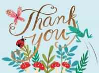 Chronicle Books Forest Friends Embellished Thank You Notes