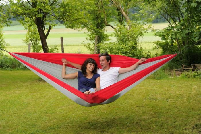 Byer of Maine Traveller Double Hammock XXL, Grey/Red