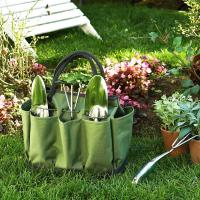 Picnic at Ascot Eco Gardening Tote with 3 Tools - Forest Green