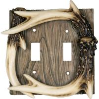 Rivers Edge Products Deer Antler Double Switch Cover