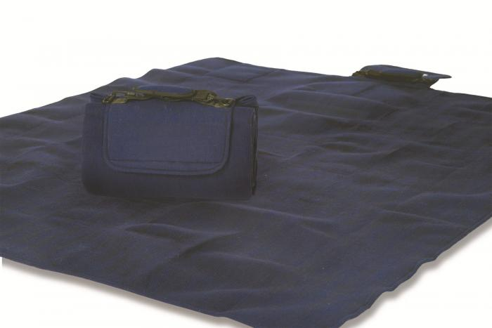 "Mega Mat Folded Picnic Blanket with Shoulder Strap - 48"" x 60"" (Navy)"