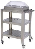 BroilKing Double Buffet Warming Cart with Clear Rolltop Lid