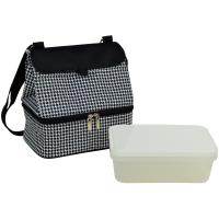 Picnic at Ascot Fashion Insulated Lunch Bag  - Houndstooth