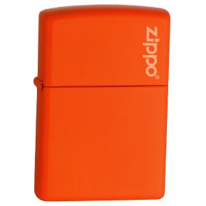 Zippo Orange Matte w/ Zippo Logo