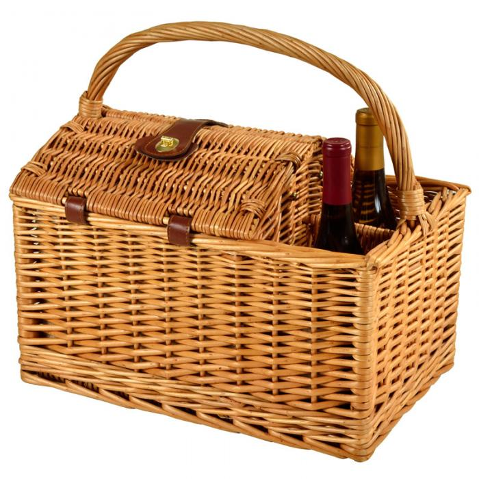 Picnic at Ascot Sussex Willow Picnic Basket with Service