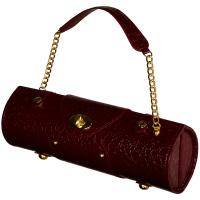 Picnic at Ascot Wine Purse - Burgundy