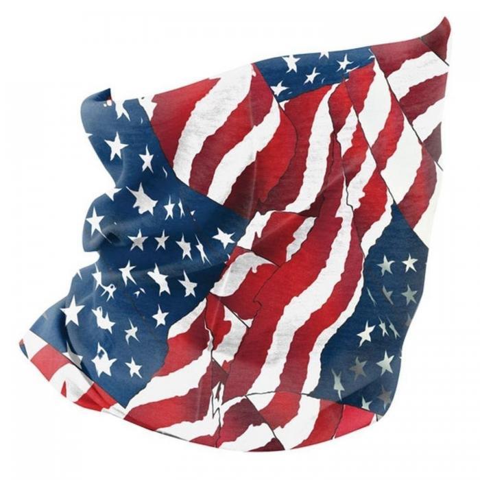 ZANheadgear Fleece Lined Motley Tube -Wavy American Flag