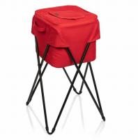 Picnic Time Camping Party Cooler With Stand (Red)