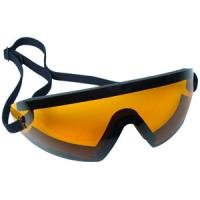 Bobster Action Eyewear Wrap Around Goggle, Black Frame, Amber Lens