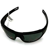 Under Armour UA Battlewrap Storm, Satin Black Frame, Gray Polarized Lens