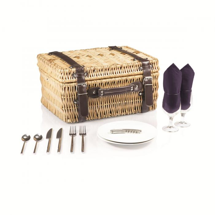 Picnic Time Champion-Navy Picnic Basket for 2