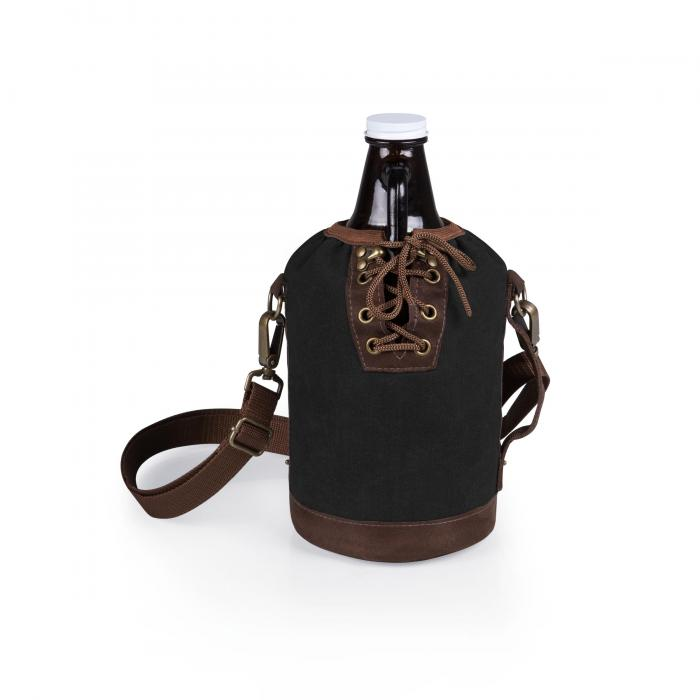Picnic Time Growler Tote With Growler - Black