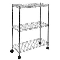 Oceanstar 3-Tier Shelving All-Purpose Utility Cart, Chrome