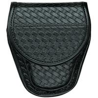 Bianchi 7900 Accumold Elite Covered Cuff Case, B/W, Blk, Hidden Snap