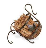 Achla European Fatwood Fireplace Kindling Caddy