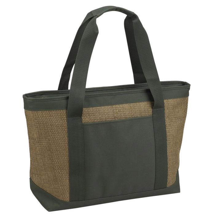 Picnic at Ascot  Large Insulated Cooler Bag  - 24 Can Tote - Forest Green