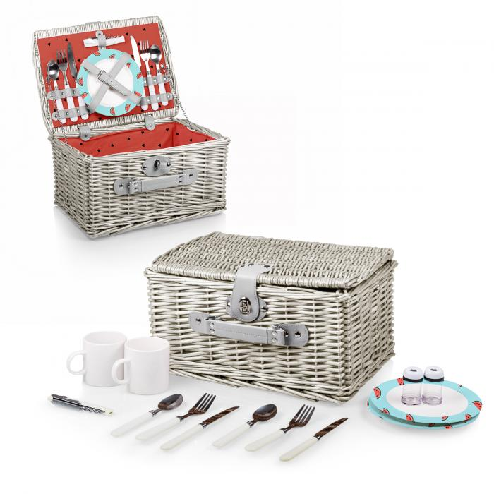 Picnic Time Catalina Picnic Basket for Two- Watermelon