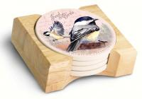 American Expeditions Chickadee Postcard Coasters (set of 4)