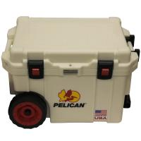 45 Quart WheeledElite Cooler, White