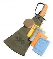 Woodman's Pal Classic Machete Nostalgia Set USA - Canvas Sheath, Round Stone, & 4 Manuals